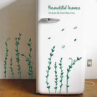 Wall stickers plant tv background wall glass stickers refrigerator stickers furniture wall stickers(China (Mainland))