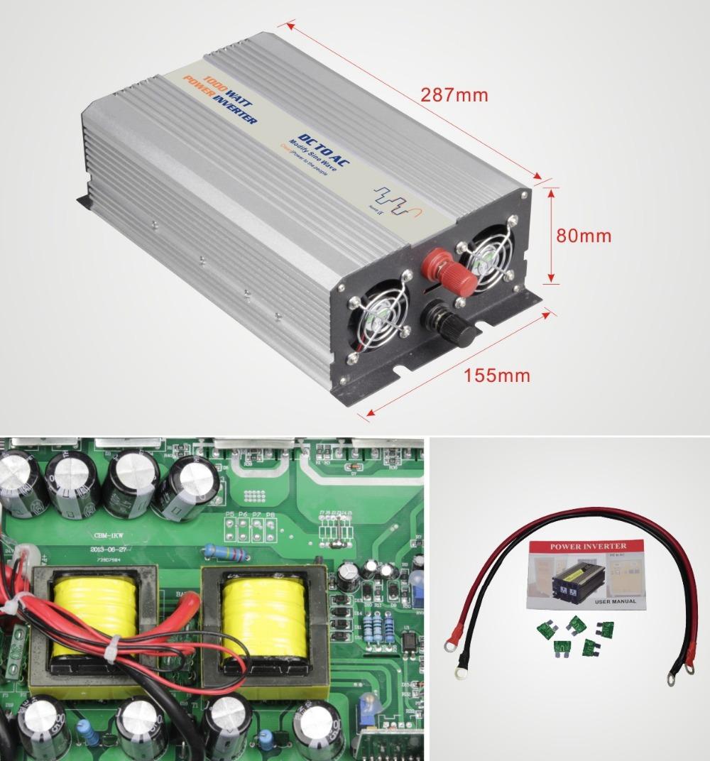 Modified Sine Wave Inverter Power 1000W dc 12V to ac 220V car auto power inverter USB 5V 1.5A(China (Mainland))