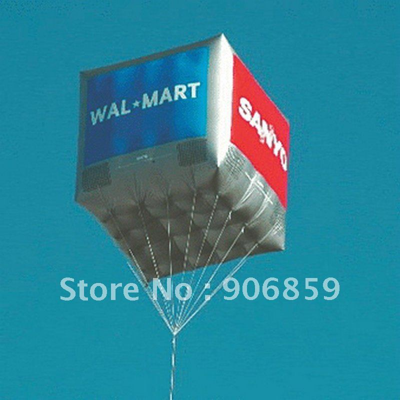 FREE Shipping 2m Large Inflatable Helium Advertising Cube Ball Inflatable Square Balloon for you(China (Mainland))