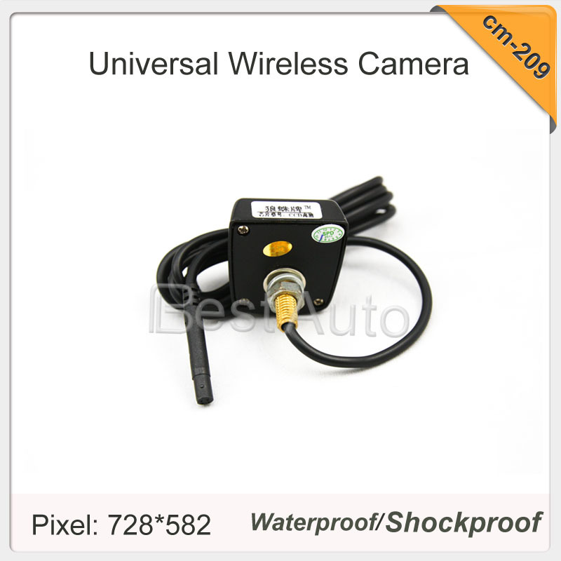 Wired car frontview/rearview camera stenless metal cover night version waterproof universal camera (Default rearview)