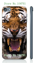Mobile Phone Case Retail 1pc Hot Tiger Head Design Protective White Hard Case Cover For Ipod Touch 5 5th Free Shipping