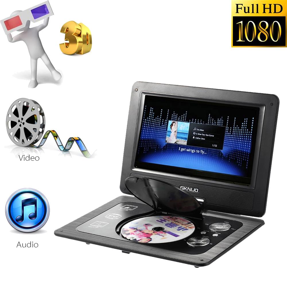 GKN-101 10. 1 Inches DVD Player Portatil 16:9 TFT Screen Pixe 1024 * 600 Support SD/USB /AV for Gamepad TV DVD/CD/MP3 US Plug(China (Mainland))
