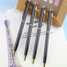 Core Metal Ballpoint Pen Rotating Metal Money Clip Metal Luxury Ballpoint Pen High Quality Mb Roller Pen Material Escolar(China (Mainland))