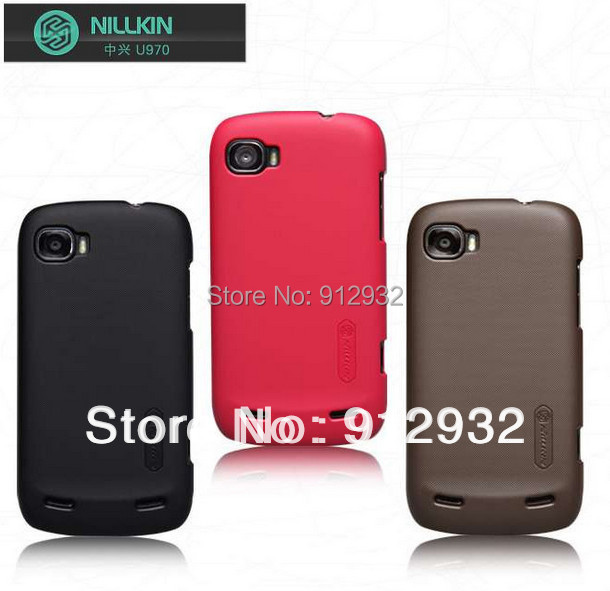 Nillkin Super shield shell, frosted matte plastic hard case, back cover for ZTE v970, ZTE grand x, free screen protector