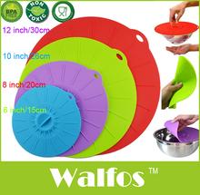 Silikon Saug Deckel-Küche Topf von 4-Obst Futternapf Abdeckung Silikon Topf Deckel-Mikrowelle kochen Gummi Pan Abdeckung(China (Mainland))