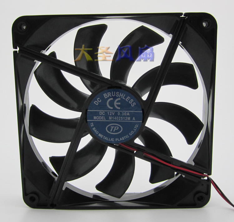 M1402512M silence cooling fan with 12V 0.3A 14cm For computer case and power supply(China (Mainland))