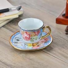 Ceramic tea set of coffee cups and saucers ceramic coffee cups and saucers suit 1 cup 1 plate of coffee(China (Mainland))