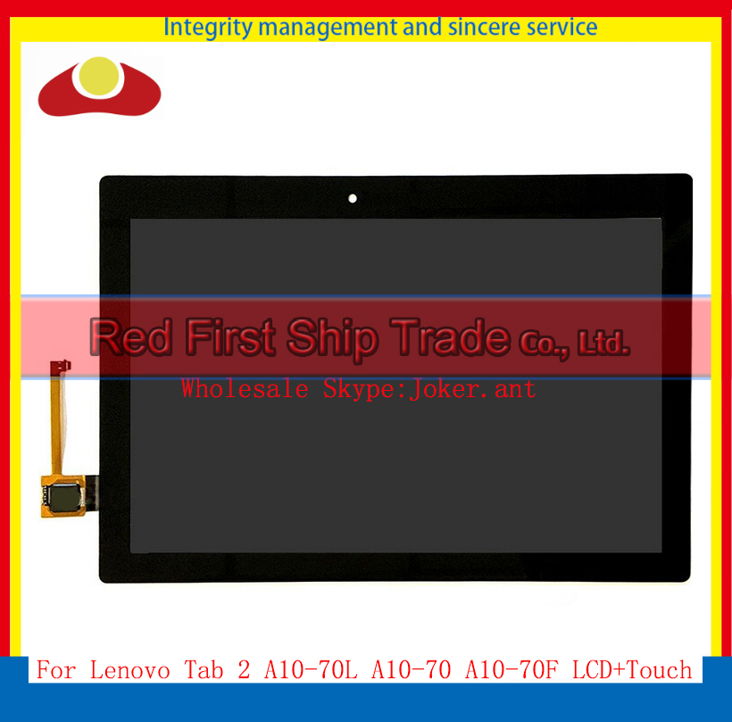 10Pcs/lot DHL EMS For Lenovo Tab 2 A10-70 A10-70F A10-70L Full LCD Display With Touch Screen Sensor Digitizer Assembly Complete