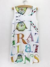 2015 summer sleeveless new arrival soft dress thin digital printed fashion cheap vestidos discount cat 3d print women dress(China)