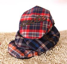 Fashion Korean Style Cute Cap British Plaid Berets Cap Children's Peaked Cap 4 Colors(China (Mainland))
