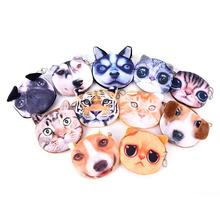 New Cute Cat Face Zipper Case Coin Purse female Wallet / child purse Makeup Buggy Bag Pouch cat man(China (Mainland))