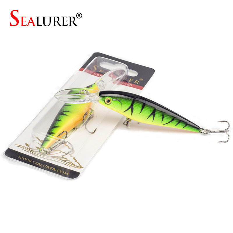 SEALURER 1Pcs Fishing Lure Bait Minnow with Treble Hook Isca Artificial Bass Fishing Tackle Sea Japan Fishing Lure 3d Eyes(China (Mainland))