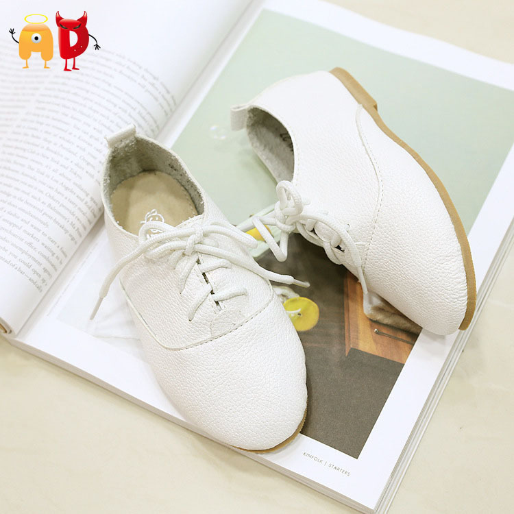 AD Genuine Leather Children Shoes Soft and Comfortable Quality Boys Girls Leather Shoes Famous Brand Design Kids Footwear(China (Mainland))