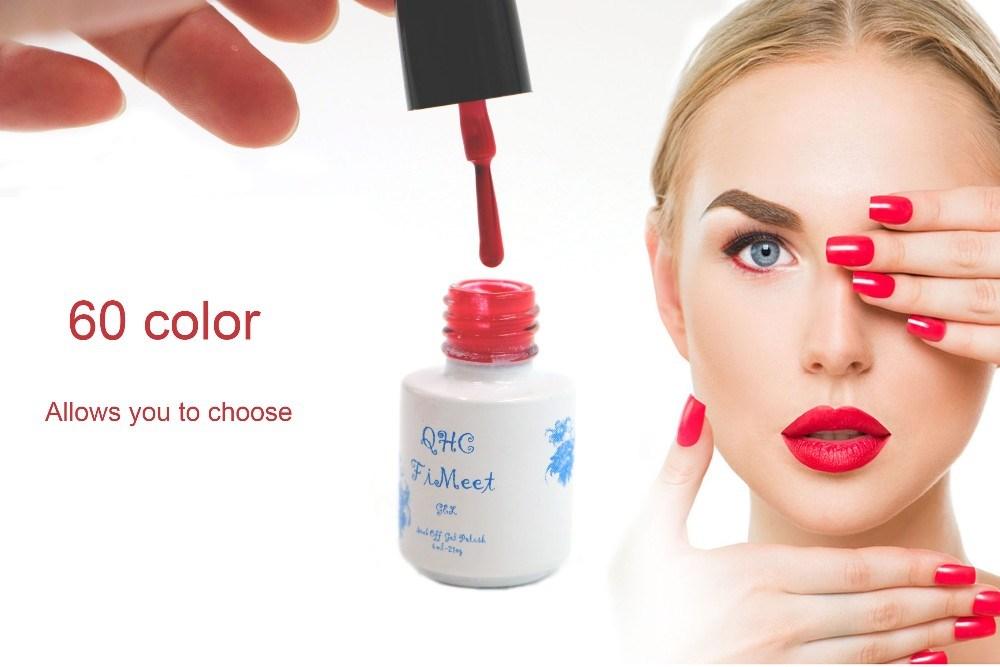 2016 Hot Sale QHC FiMeet Gel Nail Polish Long-Lasting Soak-off Nail Polish Gel Polish 6ml/Pcs 60 Colors Optional Free Shipping