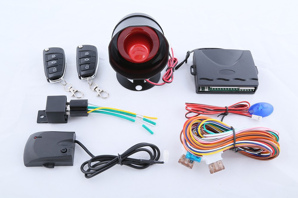 1pcs High Quality universal car alarm system 1 way with flip key remote control central door locking keyless entry anti theft(China (Mainland))