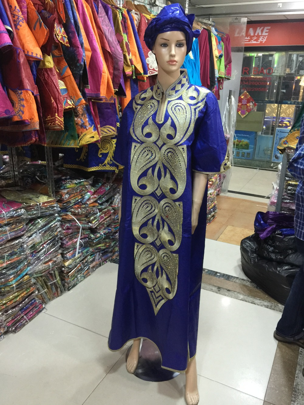 2016 African women dress clothing Bazin traditional cotton embroidered robes process(Free DHL Shipping)S2432