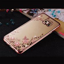 Покрытие обложка мягкая tpu цветок флора телефон case для samsung galaxy s3 s4 s5 S6 S7 Край Премьер J3 J5 J7 2016 A3 A5 A7 2017 S8 Плюс(China (Mainland))