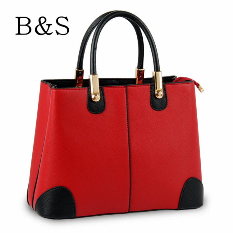 Creative Design Double Color Splice Women Handbags High Quality Leather Messenger Bags Women Shoulder Bag Over Bag 8 Colors 2016(China (Mainland))