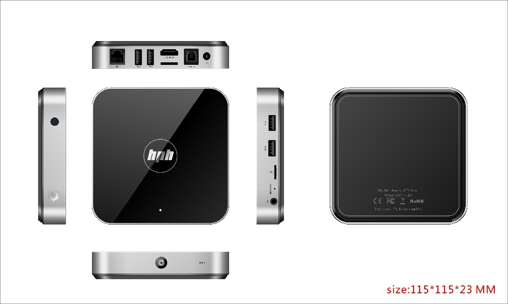 The best android tv box media player HPH RK3288 tv box NT-V6B 4G/32G With AP6335 free shipping by DHL(China (Mainland))