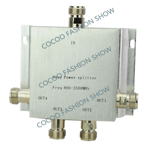 Power Splitter 800~2500MHz N 4 way RF Power Divider For GSM CDMA DCS 3g Repeater Signal Booster(China (Mainland))