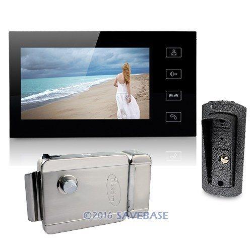 "High Quality Video Door Phone System 7"" Monitor 700TVL Camera 1v1 Electronic Lock(China (Mainland))"