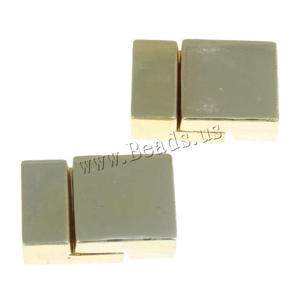 Free shipping 100PCs 20x14x6mm gold color plated Rectangle Zinc Alloy Magnetic Clasp<br><br>Aliexpress