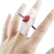 Magic Pass Finger Nail Tricky Funny Gadgets Fun Spoof Toys Novelty Shocker Blood Halloween Kids Children Gags Practical Props(China (Mainland))