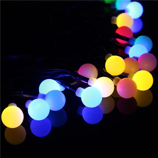 Multi-Color Solar Power 20 LED Ball Light Fairy String/Xmas/Wedding/Decoration Lighting