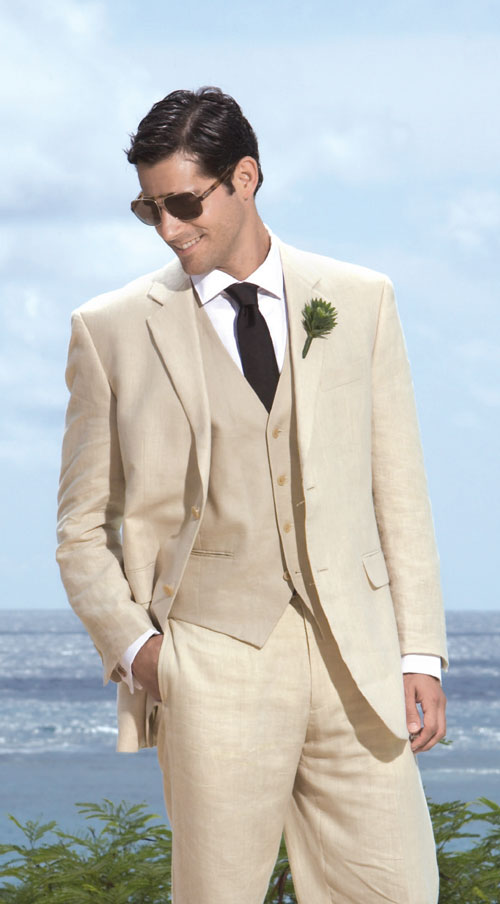Popular Mens Beach Wedding 3 Piece Suits Buy Cheap