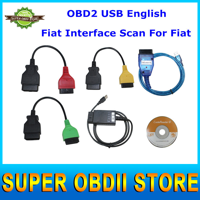 Best Quality MultiECUScan Interface Fiat Ecu Scan Cable Kit Obd2 Cable For Alfa Romeo Fiat Diagnostic Tool Cable 3Years Warranty(China (Mainland))