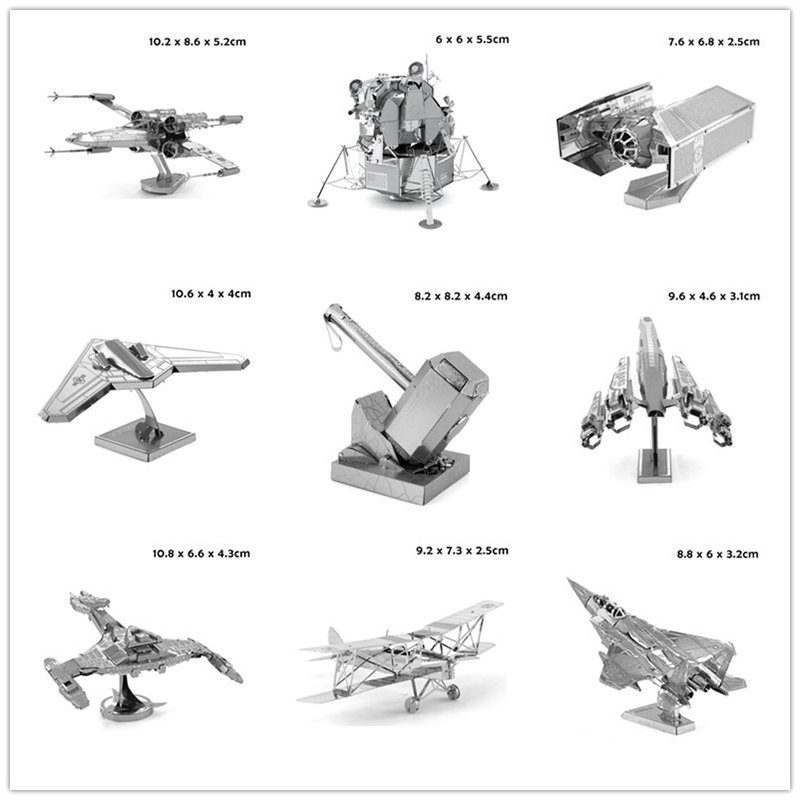 Best Price Metallic 3D Puzzle Model Miniature MJOLNIR Fighter Vehicle Insects Architecture Bridge 3D Jigsaw Puzzle Toys for Gift(China (Mainland))