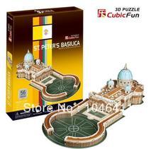 St. basílica de san pedro de CubicFun 3D educativo de papel y EPS modelo Papercraft adorno casero para el regalo navidad