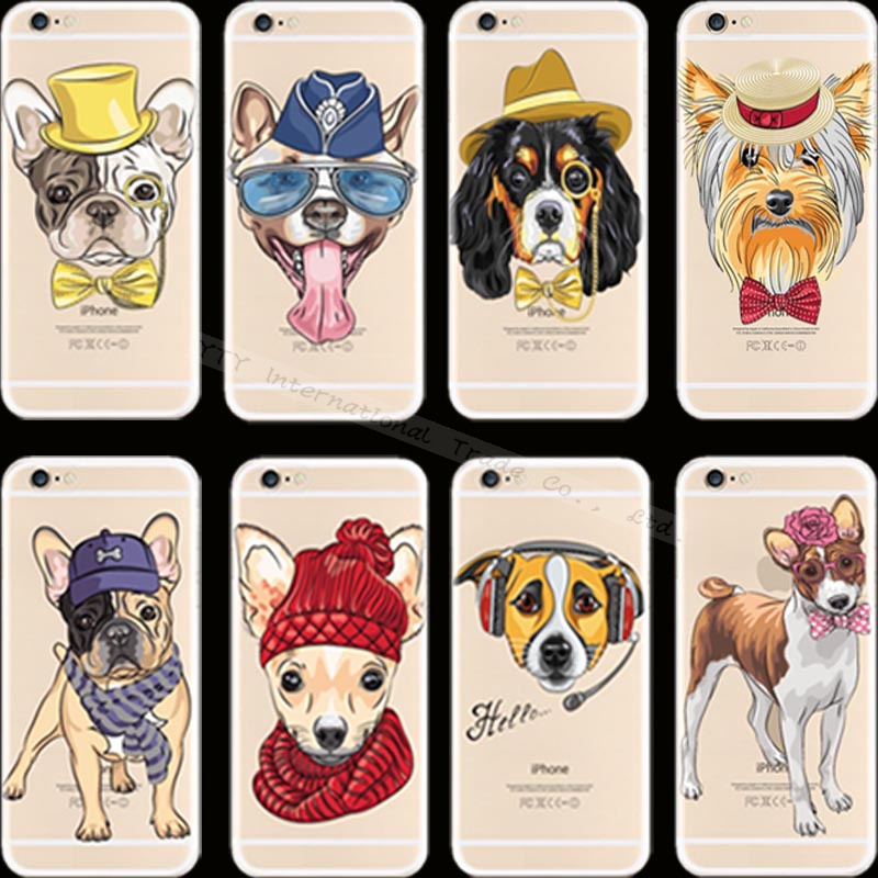 Top Fashion Pattern Pet Dog Silicon Phone Cover Cases For Apple iPhone 4 iPhone 4S iPhone4 iPhone4S Case Shell RLC VZK KXM DNH(China (Mainland))