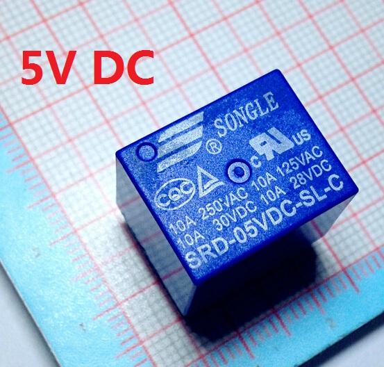 T73 SRD-05VDC-SL-C 5V 5VDC 10A Relay 10pcs(China (Mainland))