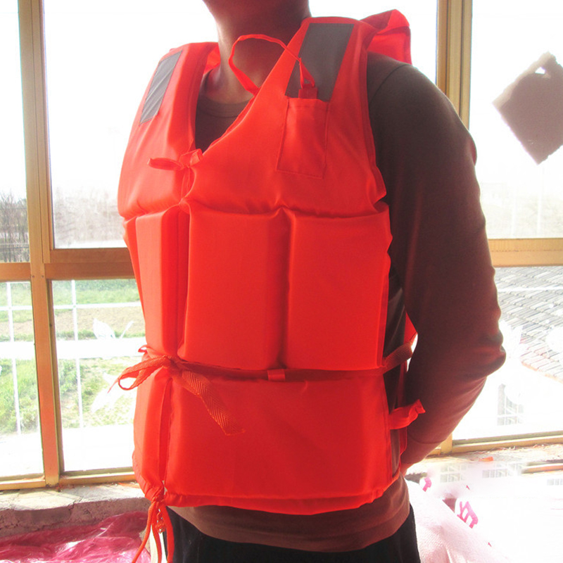 1pc EPE Foam Children Adult Flotation Swimming Life Vest Suit with Survival Whistle Life Jacket For Fishing Boating Surfing 5#(China (Mainland))