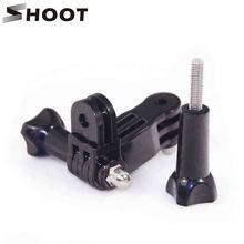 Shoot Original plastic aluminum 3 way adjustable pivot arm for Gopro Hero 2 3 3 3+ 1 sport camera accessories