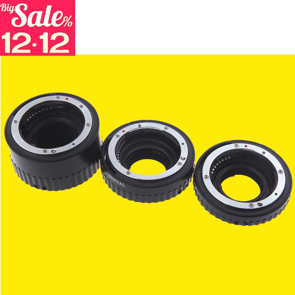 Auto Focus AF Macro Extension Tube Ring Metal Mount Set Ring for Nikon d5300 d3200 d7000 d5200 d7100 d3300 + Free Gear Ring Belt<br><br>Aliexpress
