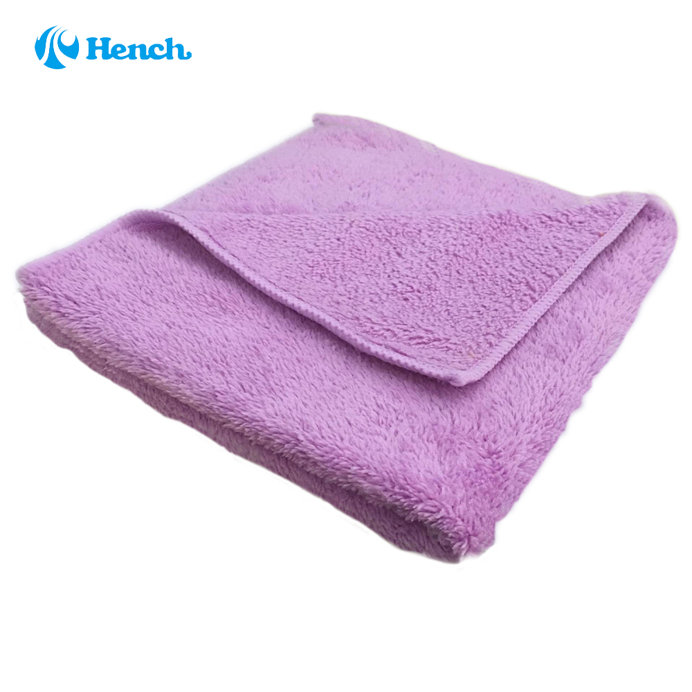 """Car Cleaning Coral Cleaning cloth 17"""" x 15"""" Professional Dual-Pile Premium Plush Microfiber Auto Detailing Towels ( Purple)(China (Mainland))"""
