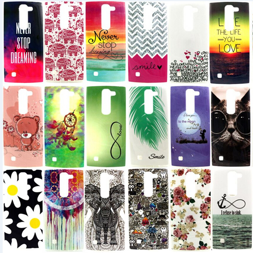 New Soft Beautiful Pattern TPU Case For LG spirit C70 H420 H422 H440N H440Y Mobile Phone Rubber silicone Bags Back Cover Cases(China (Mainland))