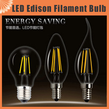 4W 8W 12W 16W 220V 230V LED Edison Light E27 E14 Filament Bulb Edison Lamp replace 20w 40w 60w incandescent bulbs warm white(China (Mainland))