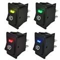 4Pcs Blue Green Red Yellow 12V 35A Universal Car Auto Fog Light Rocker Switch LED Dash