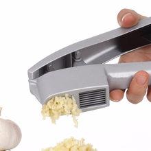 New Arival!! Silver Aluminum No Peel Aluminum Garlic Press Slices Clip Crusher Squeezer Tool Home Kitchen Accessories