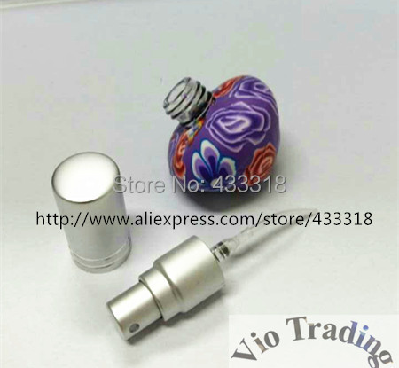 6ml mini glass empty perfume bottles,aluminum silver airless pump sprayer, cosmetics container essential oil - Vio Trading specialize in bottle store