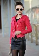 Leather jacket women 2015 winter plus size 4XL leather jacket for women chaqueta de cuero mujer gilet femme manche longue BA005(China (Mainland))