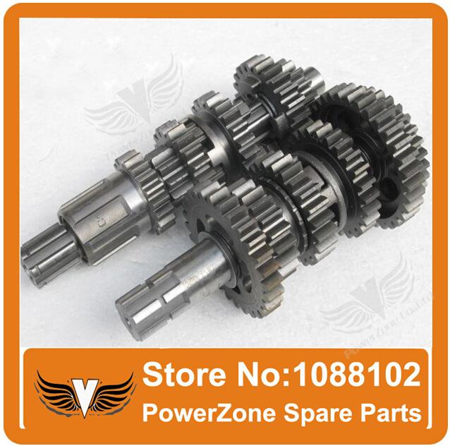 countershaft zongshen 250cc CB250 countshaft mainshaft transmission gear M-4 counter-shaft count shaft main shaft comp
