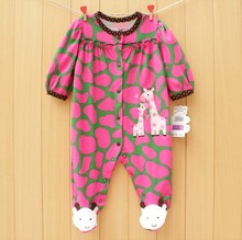 Baby jumpsuit baby girl romper cotton baby sleep& play clothes baby pajamas(China (Mainland))
