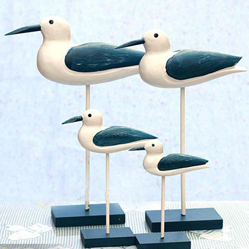 4pcs Zakka NEW Of Decoration Sea Bird Gift Wedding Nautical Home Decor font b Animal b