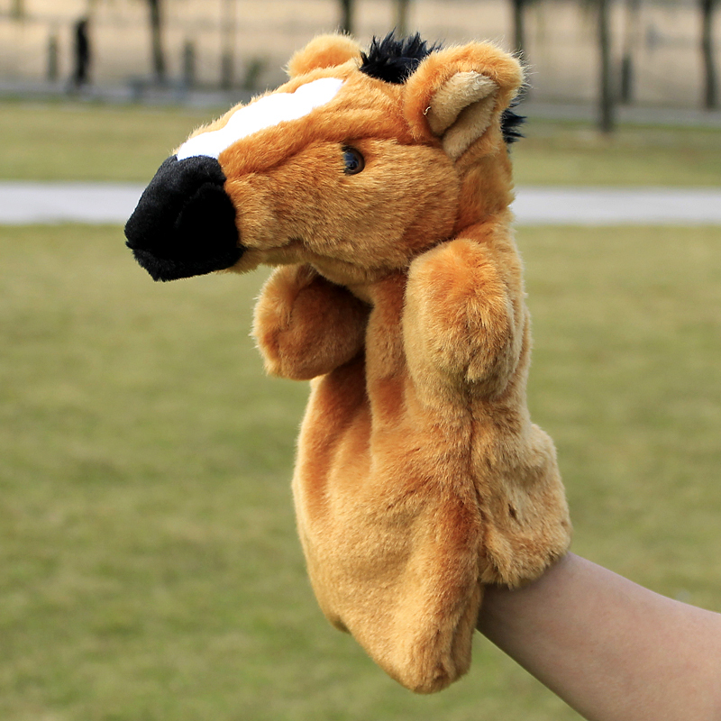 Puppet toy horse Large plush puppet even a finger animal puppet(China (Mainland))