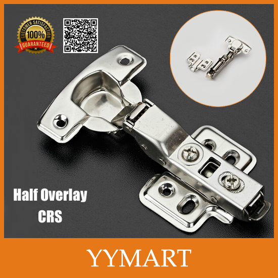 1PC Half Overlay Lift Off Hardware CRS Hydraulic Brass Cabinet Cupboard Door Hinges Buffer J0218(China (Mainland))