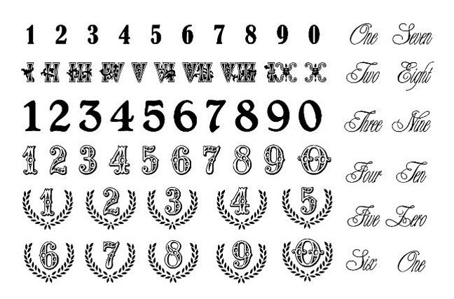 Tattoo Numbers Designs Promotion Online Shopping For